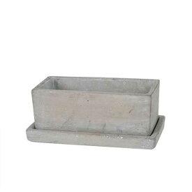 SOLID PLANTER RECTANGLE S PLAIN ダルトン プランター 長方形 おしゃれ コンクリート 鉢 植木鉢