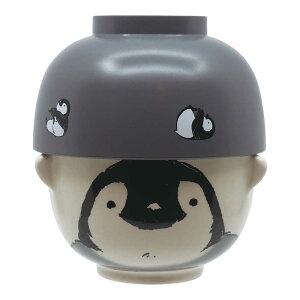 汁椀茶碗セットミニ ものくろアニマル ペンギン 茶碗 お椀 セット 子供 お茶碗 可愛い 動物 ご飯茶碗