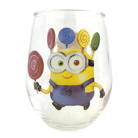 丸グラス ミニオン キャンディ ミニオンズグッズ ミニオン キャラクター グラス かわいい タンブラー コップ