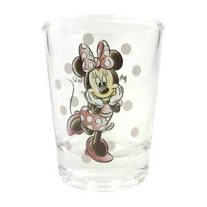 ミニグラス MOGUMOGU ミニーマウス ショットグラス ディズニー コップ キャラクター グラス かわいい