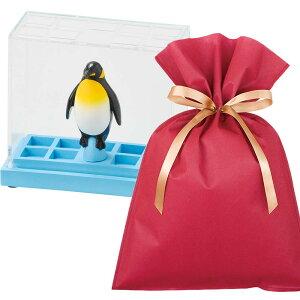 【送料込】ステーショナリースタンド(ペンギン)ギフトセット【L】 ペンスタンド ペン立て おしゃれ かわいい プレゼント 雑貨 ラッピング 男性 女性 結婚祝い 誕生日 内祝い 新居祝い 引