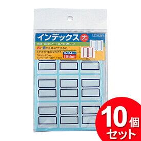 10個セット 薦田紙工業 ST-129 インデックス 大 126片 (まとめ買い_文具_テープ・シール)
