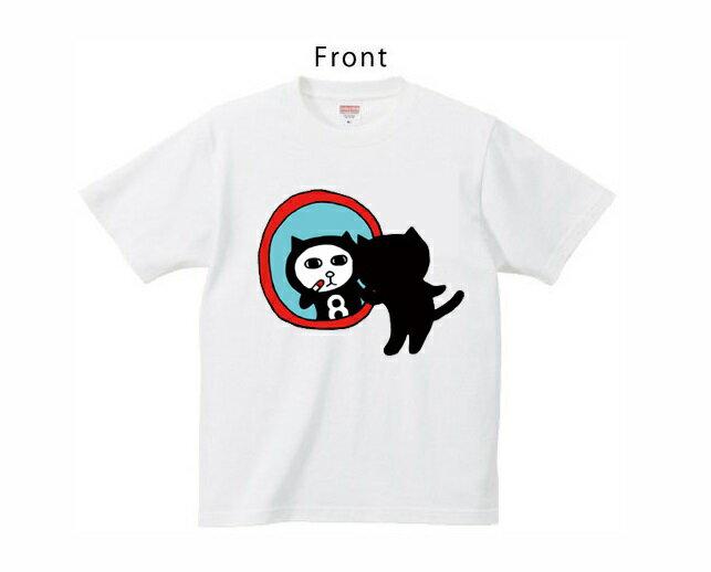 黒猫探偵社シリーズ Tシャツ「クロネコエイト」 色:白