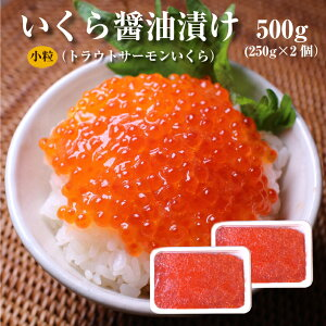 いくら(北欧サーモン)小粒 醤油漬け250g×2個(500g)【送料無料】