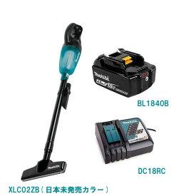 マキタ 掃除機 クリーナー 充電式 コードレス 18V MAKITA XLC02ZB 限定カラー 日本未発売 本体のみ 掃除機 クリーナー(CL180FDZW CL181FDZW) & BL1840B バッテリー 18V 純正 4.0Ah & DC18RC 急速充電器