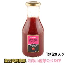 【1ケース(6本入り)】フルーツソースストロベリー300g 【20%OFF】