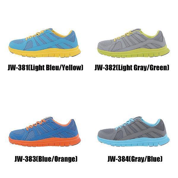 【取り寄せ】 おたふく手袋 安全靴 JW-381/382/383/384 (ZY411) ジョーマーべリック フレックス 紐