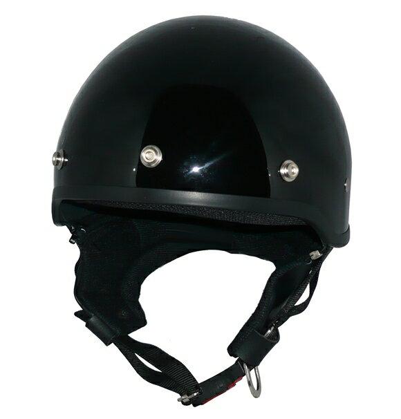 ZK-600 ヘルメットハーフジェット【ブラック】SG公認 公道走行可!125cc以下対応耳あて脱着可能!