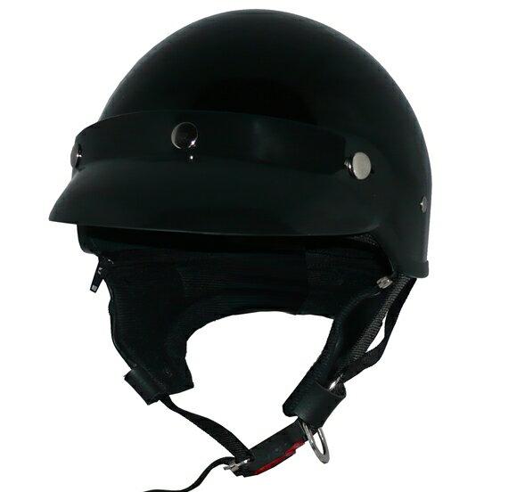 ZK-600 ヘルメットバイザー付きハーフジェット【ブラック】SG公認 公道走行可!125cc以下対応耳あて脱着可能!