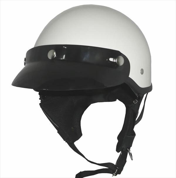 ZK-600 ヘルメットバイザー付きハーフジェット【ホワイト】SG公認 公道走行可!125cc以下対応耳あて脱着可能!限定特別塗装色