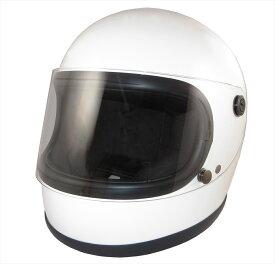 ポイント3倍ZK-540 フルフェイスヘルメット(ホワイト)SG公認 PSC認可 全排気量対応 UVカットハードコートシールドクリアーシールド付属 盗難防止金属ホルダー新基準強化バックル採用昭和レトロ70年代 族ヘルデザイン