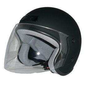ポイント3倍!ZK-400 ヘルメットジェットヘルメット【マットブラック 】 SG公認 公道走行可! 全排気量対応UVカット・ハードコートクリアーシールド+ベンチレータ