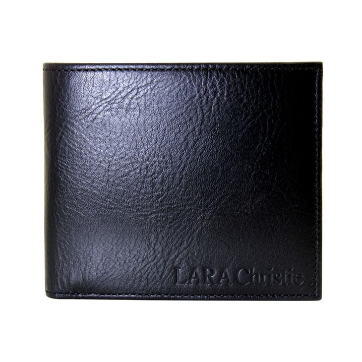 LARA Christie (ララクリスティー) レオン コインウォレット (二つ折り 財布 ) ミーリングレザー [ BLACK Label ]