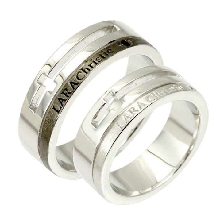 ペアリング LARA Christie (ララクリスティー)ウィッシュ クロス [ PAIR Label ] シルバー ペアリング 指輪 ペア 結婚記念日