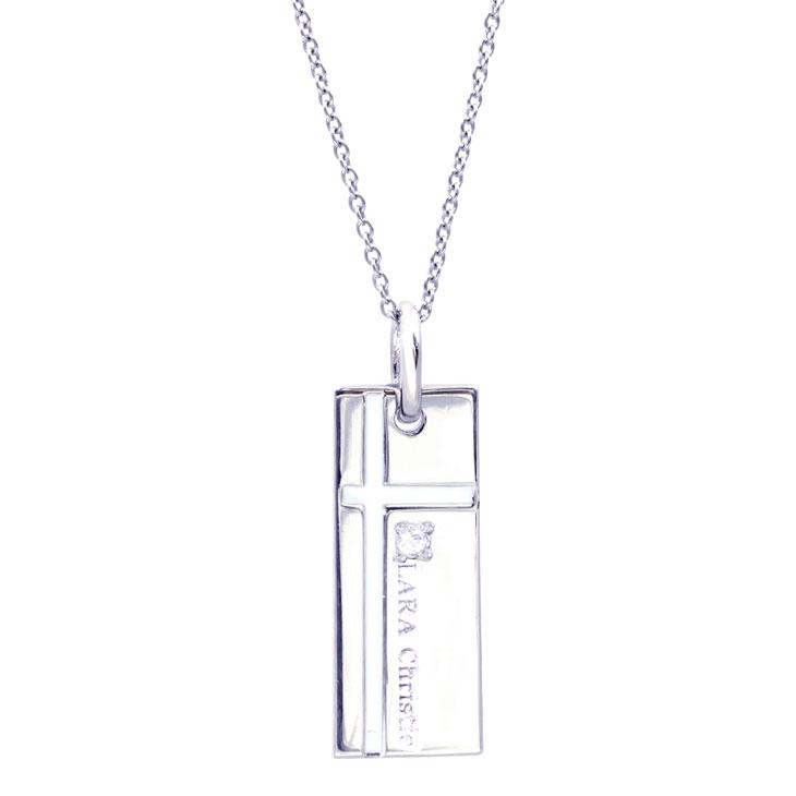 LARA Christie (ララクリスティー)ノーブル クロス ネックレス [ WHITE Label ] シルバー ネックレス レディース
