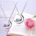 ネックレス レディース ダイヤモンド×選べる12誕生石 クレッセントムーン シルバー ネックレス 誕生日プレゼント