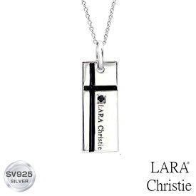 ネックレス メンズ LARA Christie (ララクリスティー) ノーブル クロスネックレス[ BLACK Label ] シルバー ネックレス メンズ
