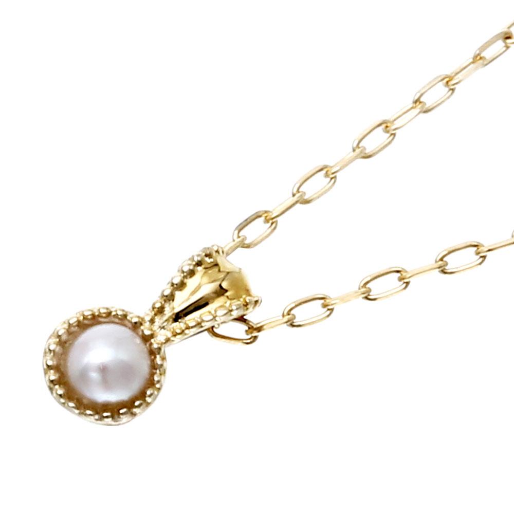 Velsepone(ベルセポーネ) K18YG パール 真珠 1粒 ネックレス vp-665156-k18【送料無料】