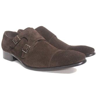 [SARABANDE sarabande] SB7773BRS long nose double Monk strap business shoes [suede] 02P03Dec16