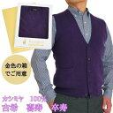 古希 祝い 喜寿 祝い 卒寿 祝い カシミヤ 100% 前開き ベスト 古希 (70歳) 喜寿 (77歳) 卒寿(90歳)の 御祝 に 紫 …