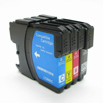 【ZBRLC11-4PK】BROTHER ブラザー LC11/LC16共通対応 互換カートリッジ [4色セット]しかもクロは顔料[インク][プリンタ][汎用]