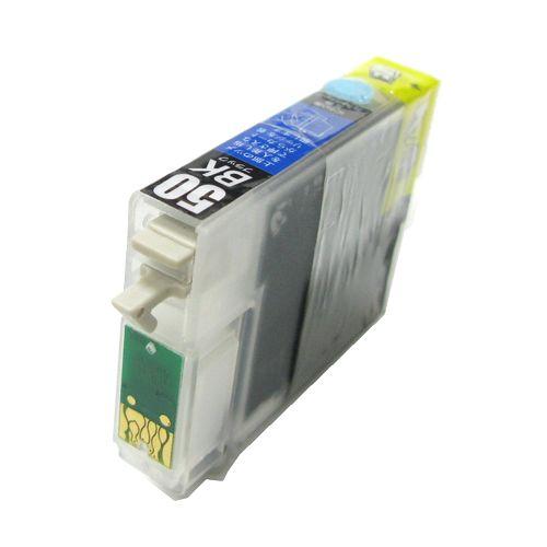 (ZICBK50RC) EPSON エプソン ICBK50 互換カートリッジ BLACK 黒 リターンチップ付き 永久チップ