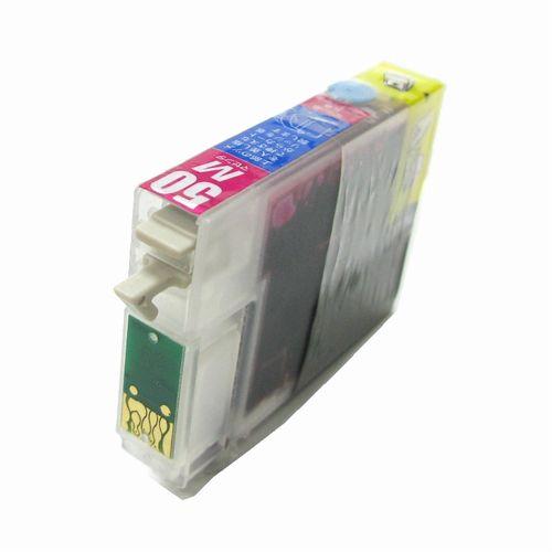 (ZICM50RC) EPSON エプソン ICM50 互換カートリッジ MAGENTA マゼンタ リターンチップ付き 永久チップ