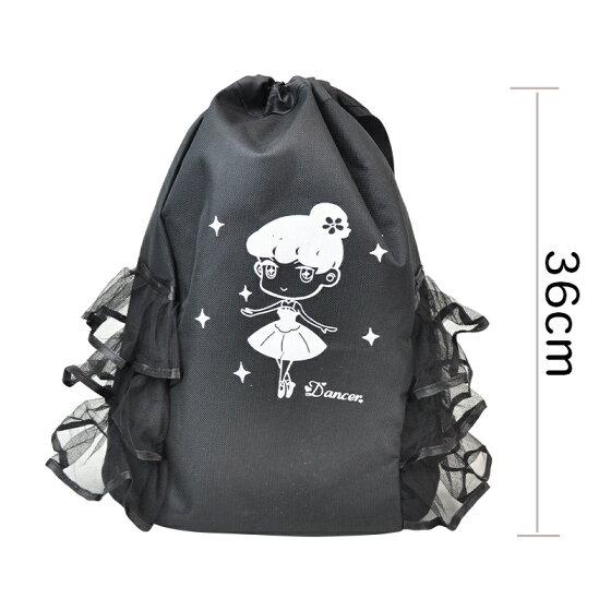 バレエ用品子供レッスンバック子供黒色バレエバックmb9006