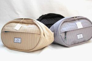 【革蛸布袋謹製】布袋のウエストポーチ ヘリンボーンストライプ【smtb-td】【saitama】