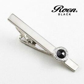 RoenBLACK ロエン タイピン ブラック アクセサリー タイバー シルバー ROT-003