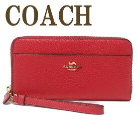 コーチ COACH 財布 レディース 長財布 ロゴ ストラップ ラウンドファスナー 6643IMORP ブランド 人気