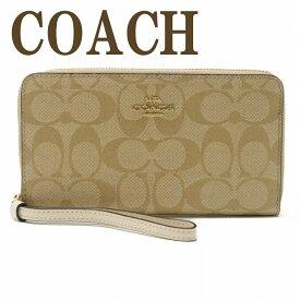 コーチ COACH 財布 レディース 長財布 ラウンドファスナー iPhoneケース 73418IMDQC ブランド 人気