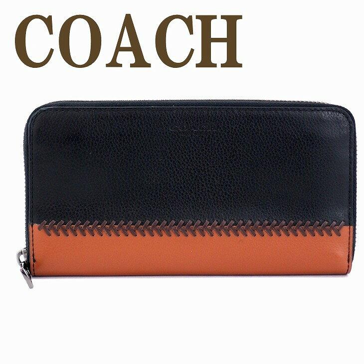 コーチ 長財布 メンズ コーチ COACH 財布 ラウンドファスナー ベースボール レザー 75223BLK ブランド 人気