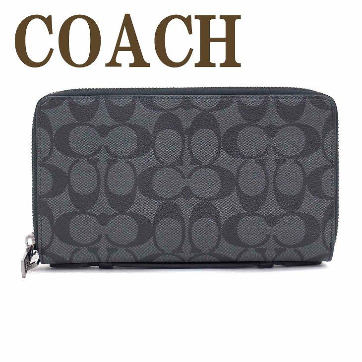 コーチ 財布 メンズ COACH コーチ セカンドバッグ ポーチ 長財布 パスポートケース 93504CQBK ブランド 人気