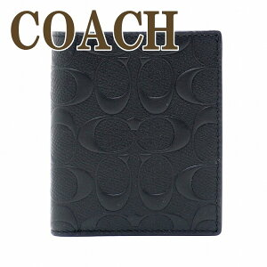 コーチ財布メンズ二つ折り財布COACHレザーブラック11970BLKブランド人気