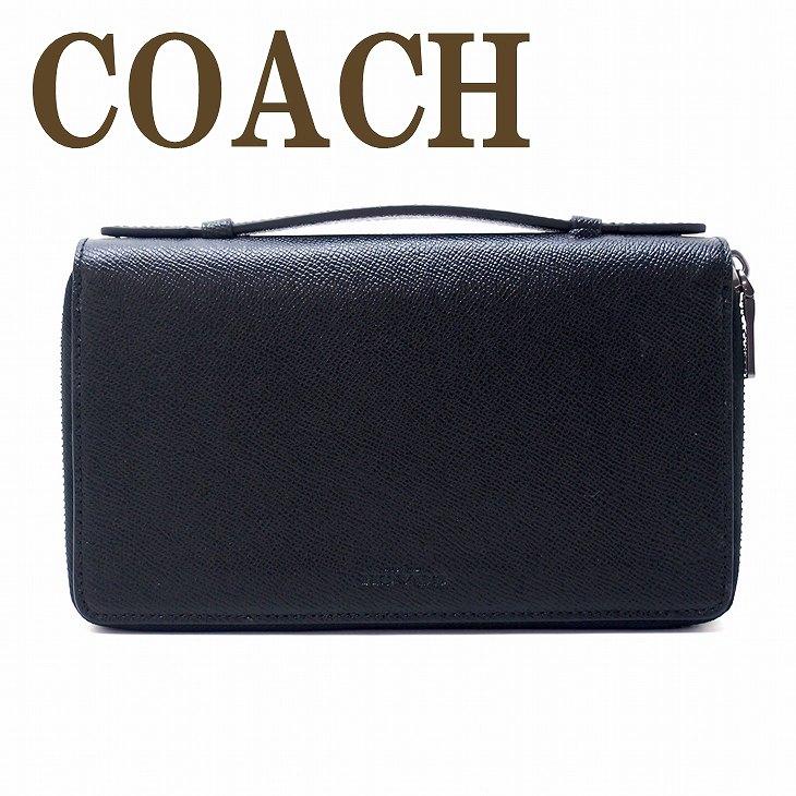 コーチ COACH 財布 メンズ セカンドバッグ ポーチ 長財布 パスポートケース 59114BLK ブランド 人気