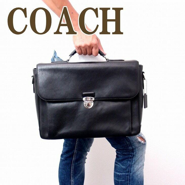 コーチ COACH バッグ メンズ ビジネスバッグ ブリーフケース トートバッグ 2way 斜めがけ レザー 71899SVBK ブランド 人気