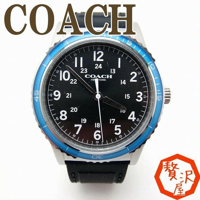 コーチ 時計 メンズ 腕時計 COACH リヴィントン シリコンラバー ベルト ウォッチ ブランド W5015F3A ブランド 人気