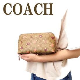 コーチ COACH ポーチ クラッチバッグ 化粧ポーチ 花柄 ピンク 55640IMLL9 ブランド 人気