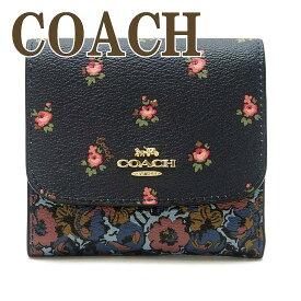 コーチ 財布 COACH 三つ折り ミニ 財布 レディース 花柄 67618IMF23 ブランド 人気