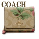 コーチ COACH 財布 三つ折り 折財布 ミニ レディース シグネチャー 花柄 レザー 75922IMOE3 ブランド 人気