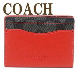 コーチ COACH カードケース メンズ IDケース パスケース 定期入れ マグネット シグネチャー レザー 87843QBPKG 【ネコポス】 ブランド 人気