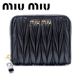 ミュウミュウ 財布 miumiu コインケース マトラッセ MATELASSE NERO ブラック 5MM268-2BPU-F0002 ブランド 人気