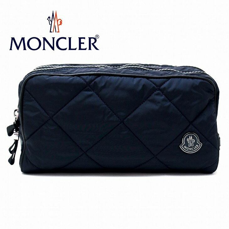 モンクレール バッグ MONCLER セカンドバッグ メンズ ダウン ポーチ クラッチバッグ ロゴ A008180054164-743 ブランド 人気