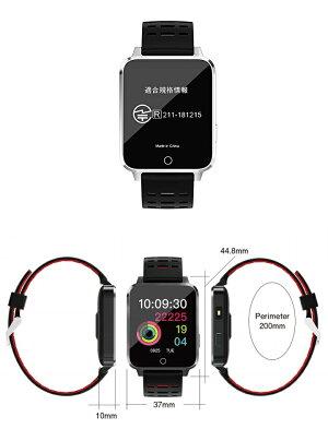 スマートウォッチIP68防水着信通知LINETwitterFacebook大型1.54インチTFT液晶AuBeeX9日本語iPhoneAndroid対応日本ブランド国内メーカー
