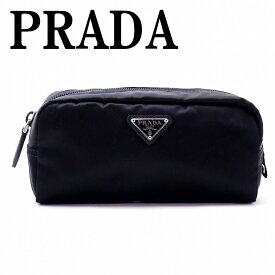 【イタリア買付】プラダ PRADA ポーチ コスメポーチ 化粧ポーチ 黒 NERO 小物 ロゴ 1NA350-2BQP-F0002 ブランド 人気