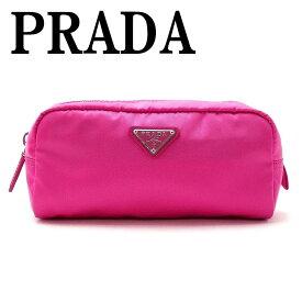 【イタリア買付】プラダ PRADA ポーチ コスメポーチ 化粧ポーチ ピンク 小物 ロゴ 1NA350-2BQP-F0029 ブランド 人気