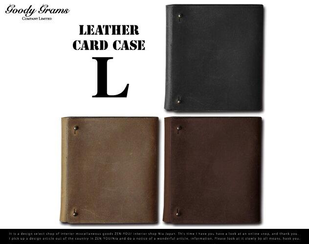 【Lサイズ 40枚収納】LEATHER CARD CASE レザーカードケース GOODY GRAMS MONIQUE CHARTLAND / グッティーグラムス カードケース 名刺入れ レザー 皮 【あす楽対応_東海】