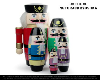 The Nutcrackryoshka 5set / ナットクラッカーリョーシカ 5 set MATRYOSHKA matryoshka 5 piece set matryoshka Russia Nutcracker doll Walnut Walnut DETAIL