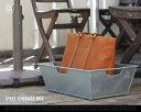 STEEL STORAGE BOX ( Rectangle ) / スチール ストレージボックス PUEBCO プエブコ W33.5cm×D50cm 荷物置き ...